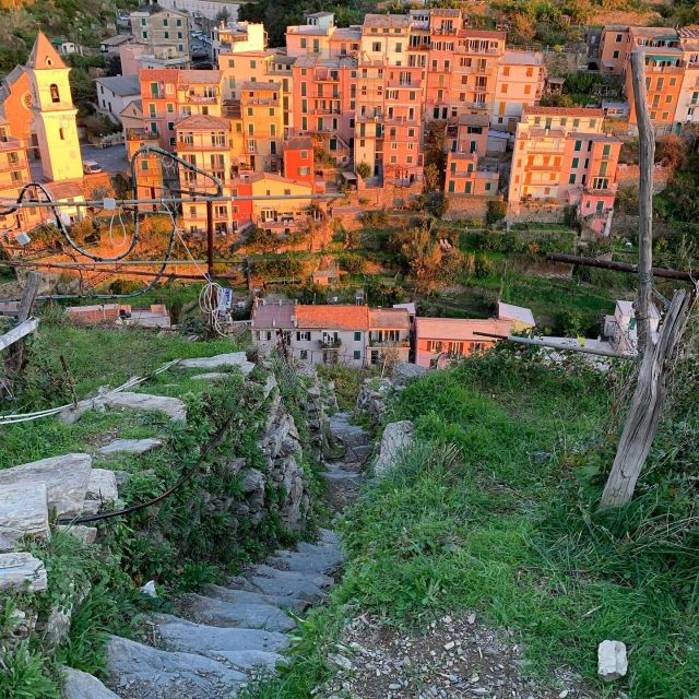 The stair climb out of Manarola at km 35.   #sciacchetrail  #cinqueterre  #trailrunning  #manarola  #stairs  #vertical  #ultratrail