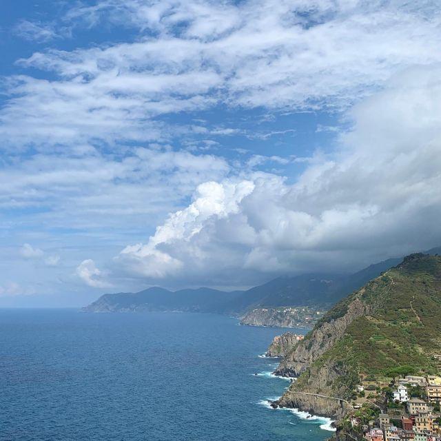 The Cinque Terre coastline from Riomaggiore to Punta Mesco.  #cinqueterre #nationalpark #liguria  #italy  #mediterranean  #coast  #travel  #outdoor  #adventure  #wanderlust #wheretonext